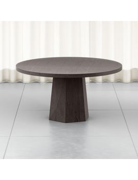 "Kesling 60"" Round Wood Dining Table by Crate&Barrel"