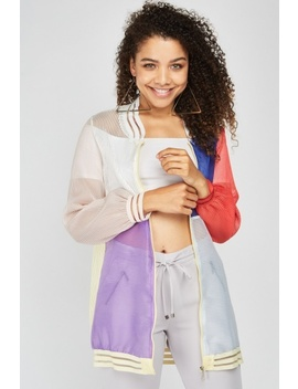 Colour Block Mesh Bomber Jacket by Everything5 Pounds