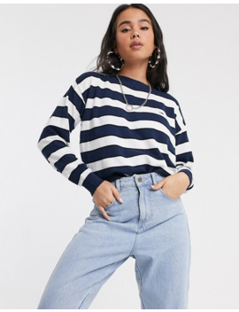 Tommy Jeans Boatneck Stripe Jumper In Wool Blend by Tommy Jeans Capsule