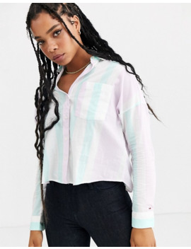 Tommy Jeans Retro Pastel Stripe Boxy Shirt by Tommy Jeans Capsule