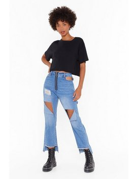 Ain't No Damsel In Distressed Denim Jeans by Nasty Gal
