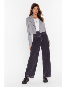 Stitch Side Are You On Wide Leg Jeans by Nasty Gal