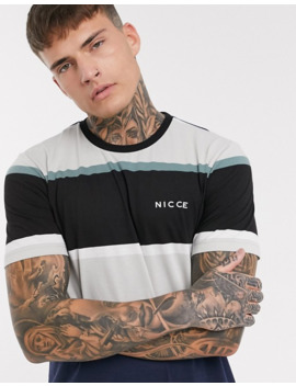 Nicce T Shirt With Logo In Navy And White Stripe by Nicce