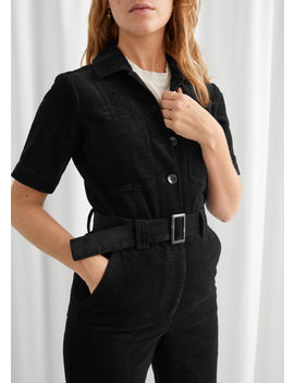 Corduroy Buckle Belt Jumpsuit by & Other Stories