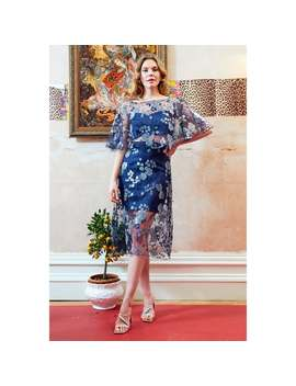 Doutzen Embroidered Lace Co Ord Midi Dress by Sarvin