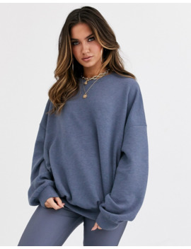 Asos Design – Grå Supermjuk Sweatshirt I Oversize Modell, Del Av Set by Asos Design