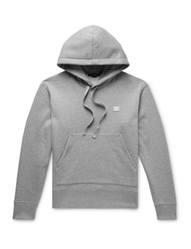 Ferris Logo Appliquéd Fleece Back Cotton Jersey Hoodie by Acne Studios
