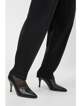 High Vamp Leather Pumps by Arket