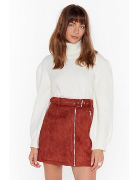 Rollin' With It Turtleneck Puff Sleeve Sweater by Nasty Gal