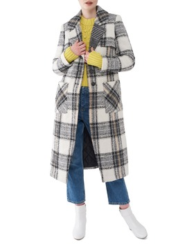 Plaid Bouclé Long Coat by Nvlt