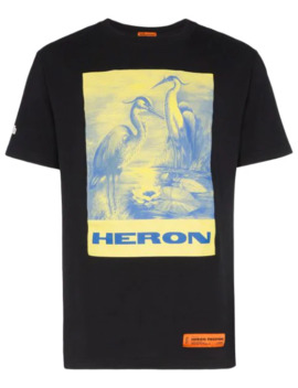 Heron Print T Shirt by Heron Preston