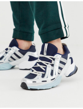 Adidas Originals Eqt Gazelle Sneakers In Navy And White by Adidas Originals