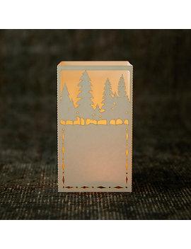 Laser Cut Paper Lantern, Trees by Terrain