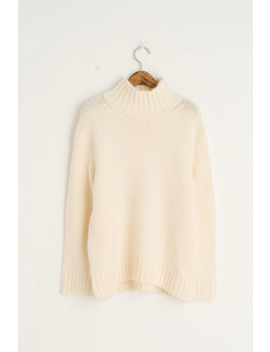 Hoya High Neck Jumper, Ivory by Olive