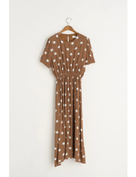 Carnation Long Dress, Brown by Olive