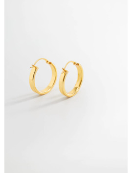 Thick Hoop Earrings by Mango