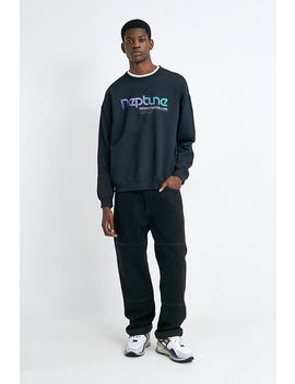 Uo Neptune Black Crew Neck Sweatshirt by Urban Outfitters