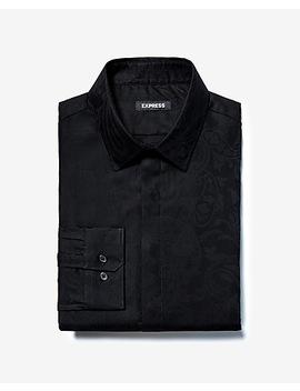 Slim Paisley Jacquard Dress Shirt by Express