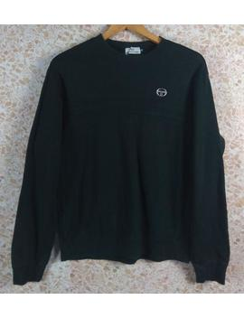 Vintage 90er Jahre Selten Sergio Tacchini Sweater Mittlerer Größe by Etsy