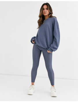 Asos Design Grey Oversized Super Soft Sweatshirt And Disco Legging Co Ord by Asos Brand