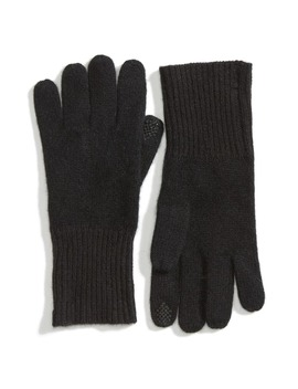 Rib Knit Cashmere Gloves by Halogen®