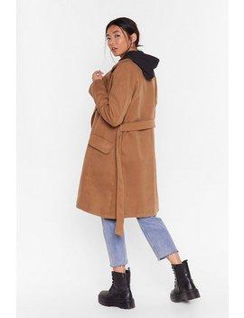 Belted Wool Look Coat by Nasty Gal