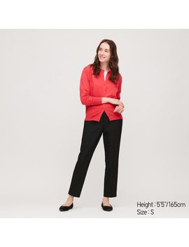 Women Ezy Two Way Stretch Ankle Length Trousers by Uniqlo