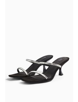 Romy Black Diamante Mules by Topshop