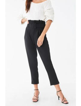 D Ring Belt Cuffed Trousers by Forever 21