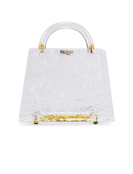 Mini Top Handle Bag In Clear by Amber Sceats