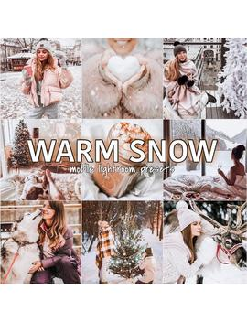 4 Warm Snow Mobile Lightroom P Resets | Warm Presets | Light Presets | Blogger Presets | Lifestyle Presets | Instagram Filters |Winter Filter by Etsy