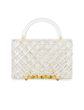 Top Handle Bag In Clear by Amber Sceats
