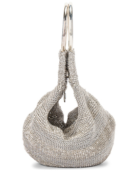 Goldie Tote In Silver by From St Xavier