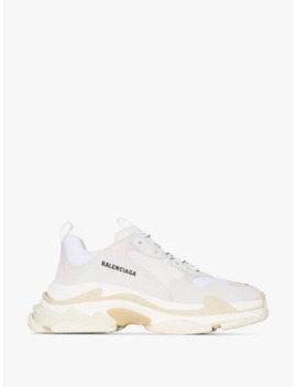 White Triple S Sneakers by Balenciaga