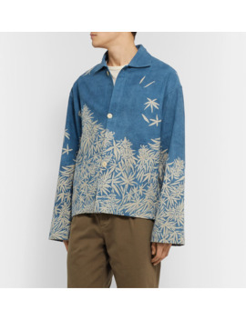 Printed Organic Cotton Canvas Overshirt by Story Mfg.