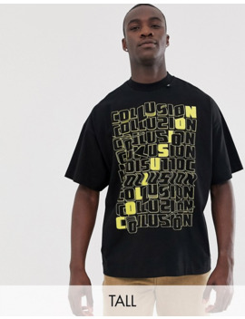 Collusion Tall Printed T Shirt by Collusion
