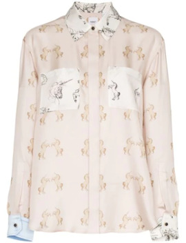 Alexa Dancing Unicorn Print Shirt by Burberry