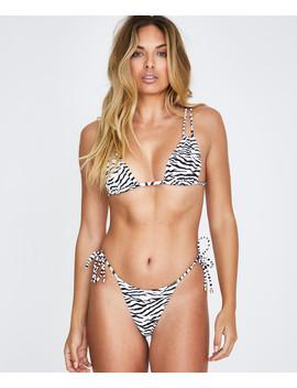 Animal Instinct String Bikini Zebra Black/White by Au