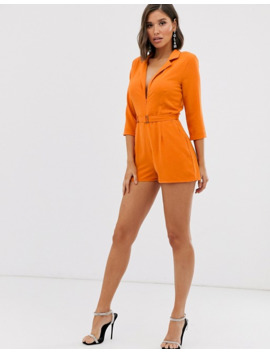 Missguided – Kurzer Smoking Jumpsuit In Orange by Asos