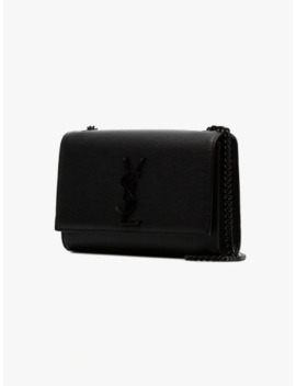 Black Kate Leather Shoulder Bag by Saint Laurent