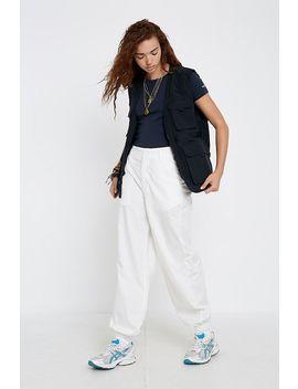 Uo Jordyn White Poplin Jogger Trousers by Urban Outfitters