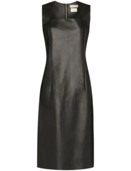 Fitted Leather Dress by Bottega Veneta