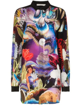 Goya Printed Silk Mini Dress by Mary Katrantzou