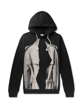 Printed Loopback Cotton Jersey Hoodie by Maison Margiela