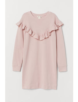 Sweatshirtkjole Med Volang by H&M