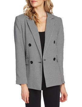 Houndstooth Double Breasted Jacket by Vince Camuto
