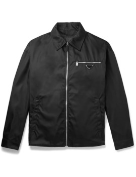 Oversized Logo Appliquéd Nylon Blouson Jacket by Prada