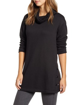 Cowl Neck Side Button Tunic Top by Caslon®