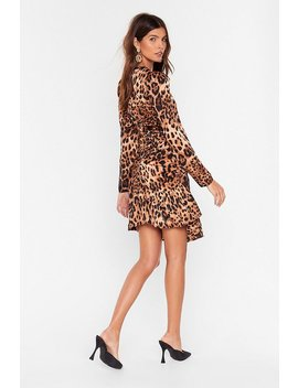 As Purrr Usual Leopard Mini Dress by Nasty Gal