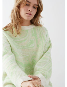 Swirl Jacquard Wool Blend Sweater by & Other Stories